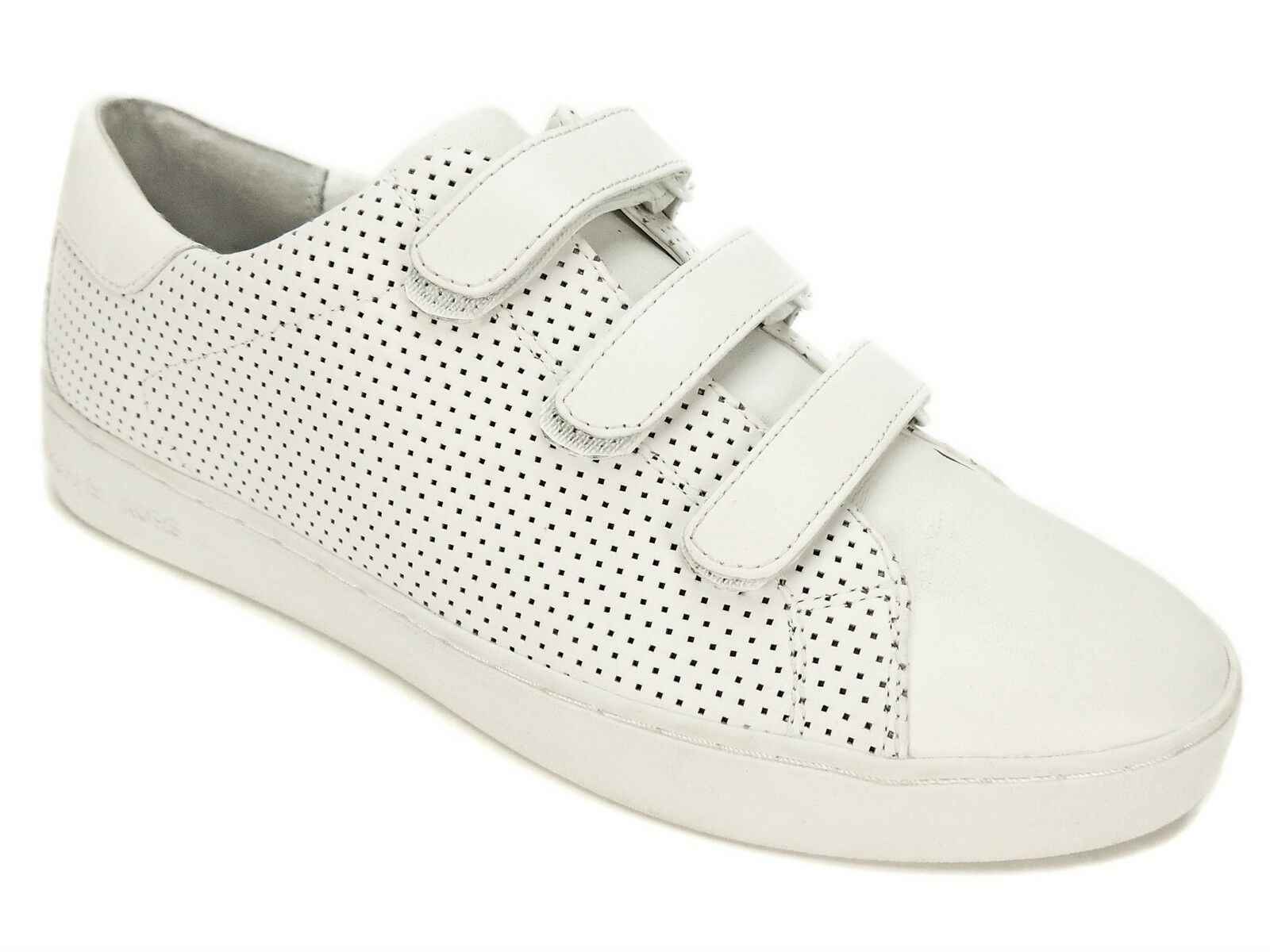 Michael by Michael Kors Women's Craig Sneakers White Leather Size 9.5 M