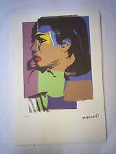 Andy Warhol Litografia 57 x 38 Arches France Timbro Secco Galleria Arte A187