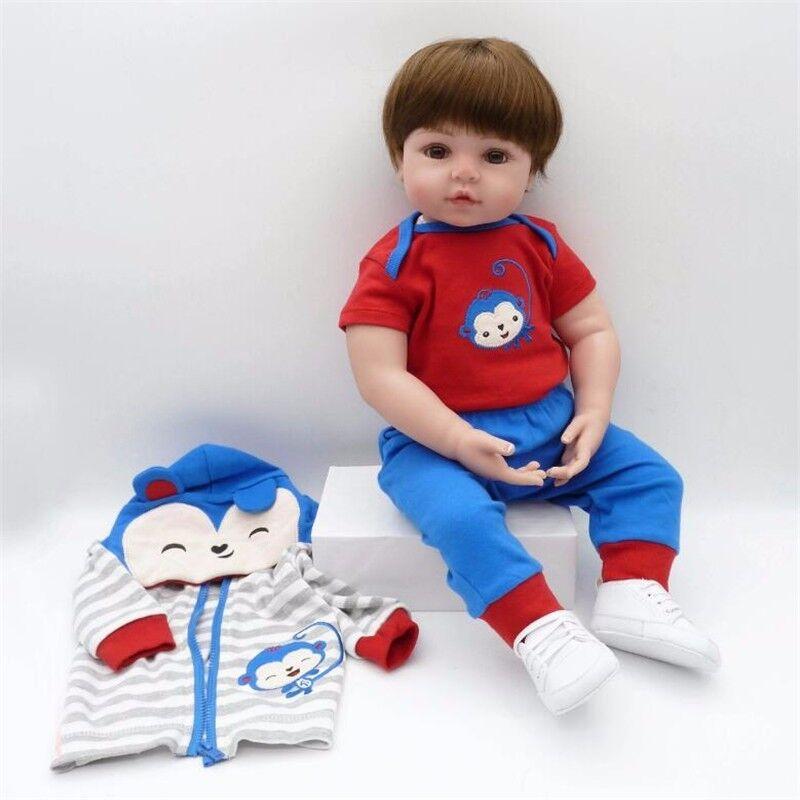 22  muñeca bebé realista Reborn Silicona Suave Juguete Regalo de Cumpleaños Caliente Vinilo Del Niño