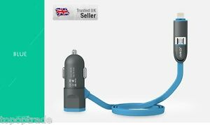 LED-light-5v-2-4A-Car-Charger-for-Apple-and-Android-with-extra-USB-Slot-Blue