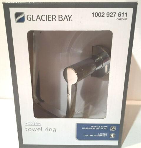 Glacier Bay Modern Towel Ring Chrome NIB
