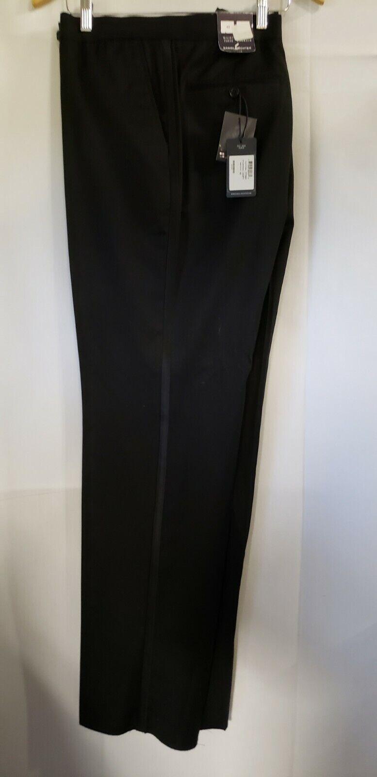 New Daniel Hechter 42 Waist New Men's Wool Tuxedo Pants Flat Front TUXXMAN