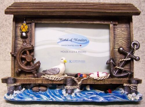 "Picture Frame Maritime Memories 9 ¼/"" x 7/"" for 6/"" x 4/"" picture or mirror NEW"