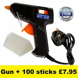 Glue-Gun-Hot-Melt-ElectricTrigger-DIY-Adhesive-Crafts-100-FREE-GLUE-STICKS-UK