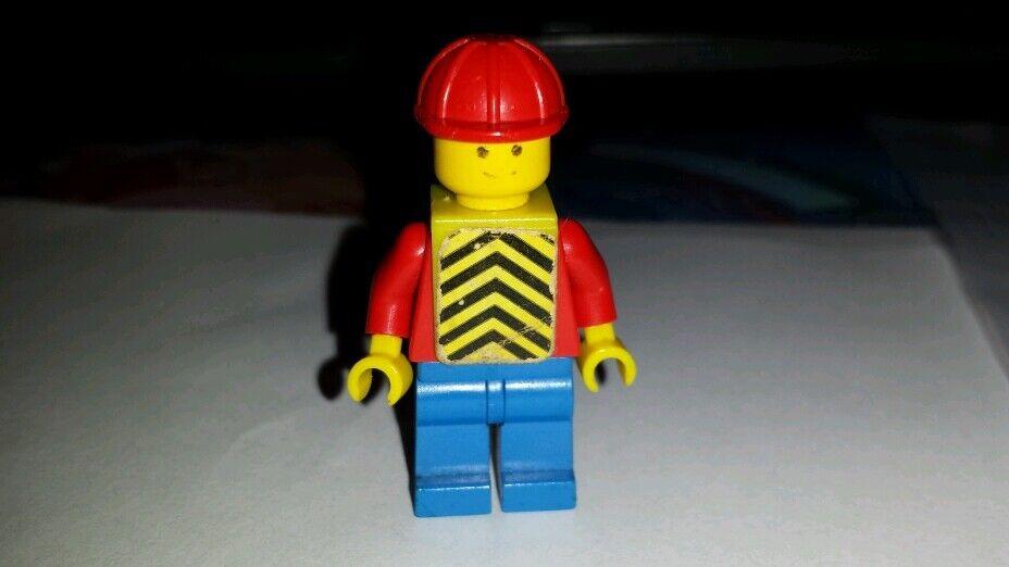Raro 1978 Lego 670 trabajador de construcción con pegada Chaleco de seguridad Minifig