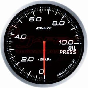 Defi-Collegamento-Metro-Advance-Bf-Olio-Manometro-Bianco-Viso-60mm-DF10201