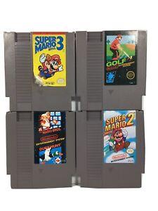 Super Mario Bros 1 2 3 NES Authentic Nintendo Game Cartridges Working *Fast Ship