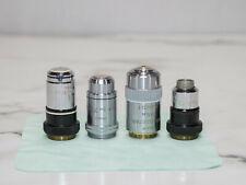 Zeiss Amp Leitz Microscope Objective Lenses 25 Plan 16 Phase Fluotar 70 Pv Fl