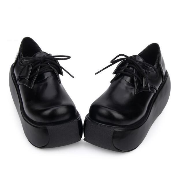 Mujer Enrojoadera Zapatos Tacos De Tacos Zapatos Cuña de plataforma Punk Gótico Lolita bombas de punta rojoonda ad165f