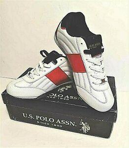 US Polo Assn Sneakers,Kicks,Tennis shoes Men' size 8 Red & White 216939-22W -SPW