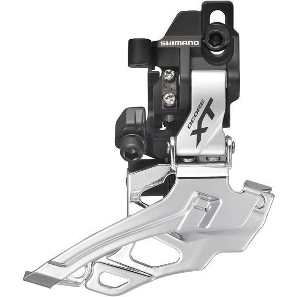 Shimano FDM786 XT 10 Velocità Doppio deragliatore, directfit argentoo DualPull