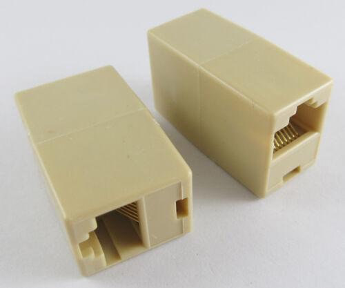 100pcs RJ45 Modular 8P8C Coupler ethernet Network Extension Female FF Adapter