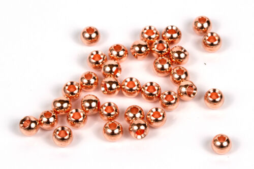 5//32 Copper 25 Tungsten Fly Tying Beads 3.8mm