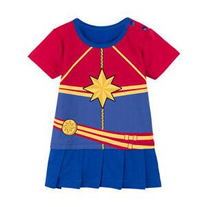 Baby-Girls-Captain-Marvel-Romper-Dress-Infant-Bodysuit-The-Avenger-Jumpsuit