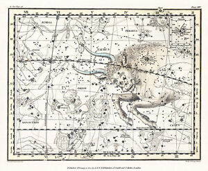 Astronomy Celestial Atlas Jamieson 1822 Plate-26 Art Paper or Canvas Print