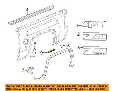 Chevrolet GM OEM 14-16 Silverado 1500 Pick Up Box Bed-Protector Right 22801027