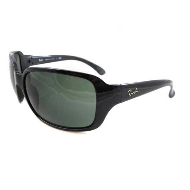 8190a452a9dc7 Ray-Ban Rb4068 601 60mm Black Frame crystal Green Lens Sunglasses ...