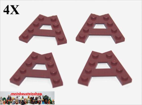 Keilplatten 45° A-Form Rotbraun Reddish Brown NEU 4X Lego® 15706 Eck