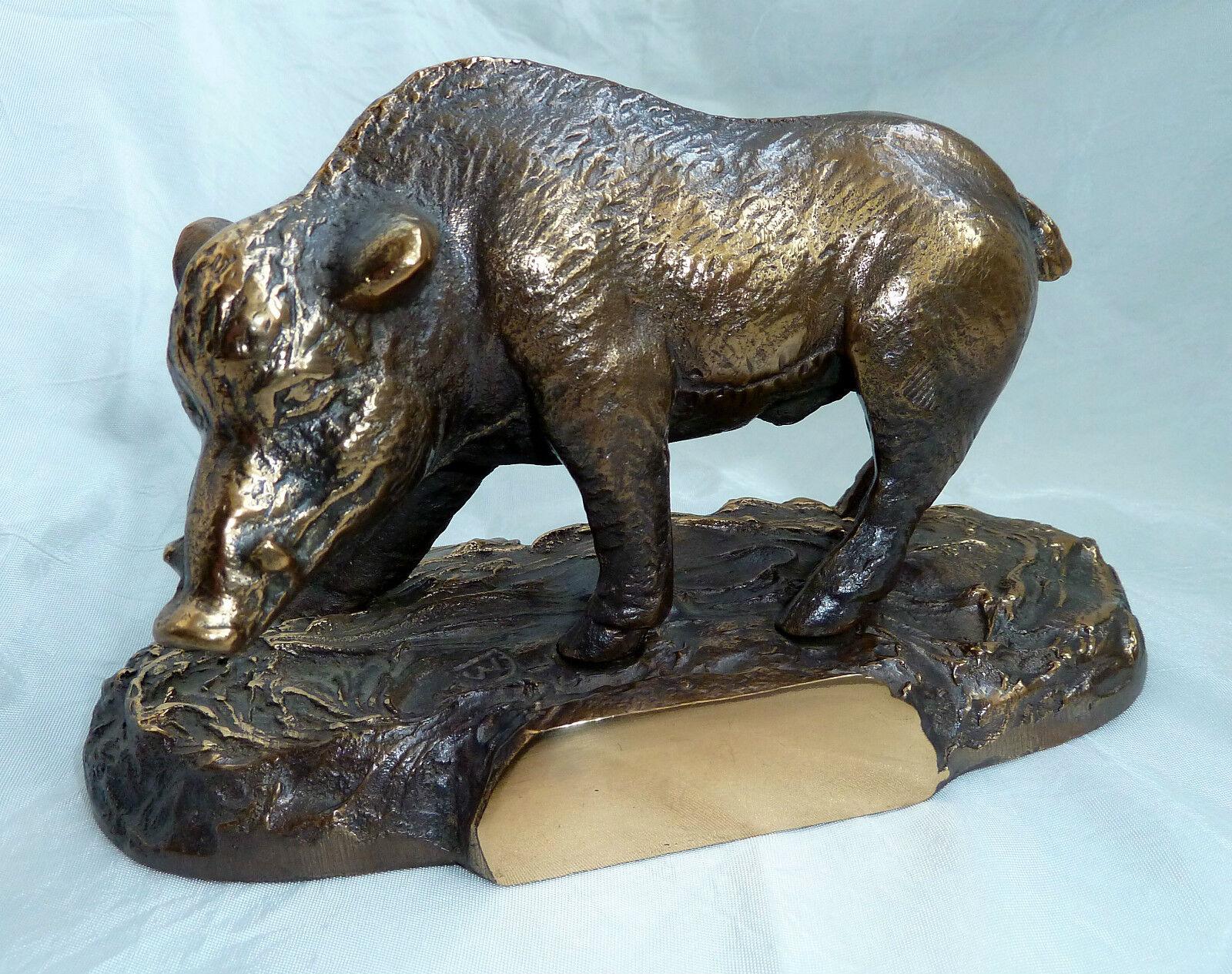 Keiler Bronzefigur - Bronze - - - Bronzekeiler - Keilerfigur - Jagd - Tierfigur 6acb98