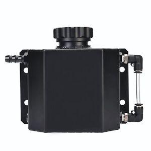 Universal-1L-Alloy-Aluminium-Engine-Oil-Catch-Can-Breather-Tank-Bottle-Black