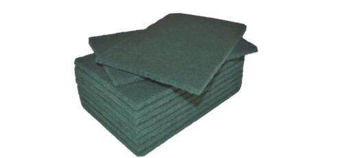 Aardvark portería 10 Pack Green para fregar Almohadillas de 9 X 6 pulgadas