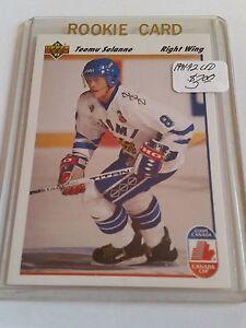 1991-92-Upper-Deck-21-Teemu-Selanne-CC-RC-Canada-Cup-FINLAND