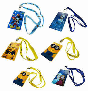 Image Is Loading Fun Character Lanyard Tag Office Work Staff Id