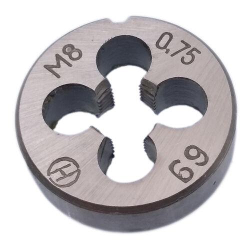 US Stock HSS 8mm x 0.75 Metric Die Right Hand Thread M8 x 0.75mm Pitch