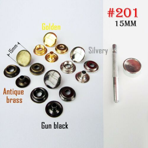 Metal Press Stud Snap Button Popper Fastener for Leather Clothes Jacket Repair