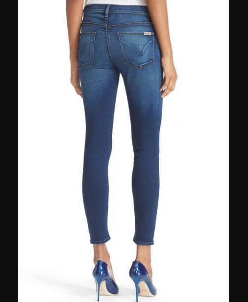 HUDSON Nico Midrise Super Skinny JEANS Womens 32 SLIM Leg Designer Denim STRETCH