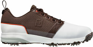 FootJoy-Contour-Fit-Golf-Shoes-54096-White-Brown-New-Choose-Size