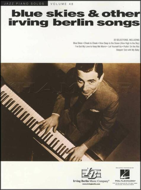 Blue Skies & Other Irving Berlin Songs Jazz Piano Solos Sheet Music Book Always