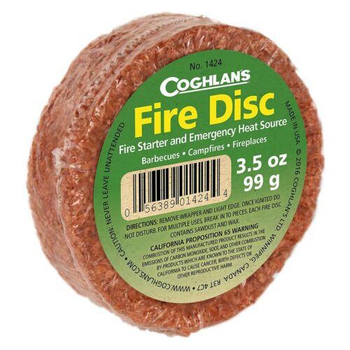 Coghlan/'s Fire Disc 3.5oz Cedar Fuel Tinder Emergency Heat Source Fire Starter