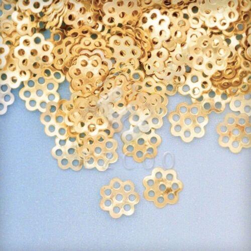 20g Blumen Perlenkappen Perlkappen Endkappen DIY Schmuck Basteln DIY 6//7.5mm