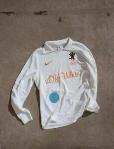 """buy online 8251d c8328 Nike X off White """"football Mon Amour"""" Home Jersey Size L Virgil Abloh Soccer"""