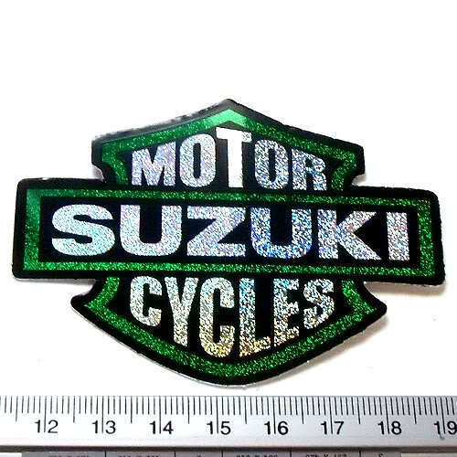 "SUZUKI Motor Cycles Bike Sticker Reflect Light Decal BG 2.25x3/"""
