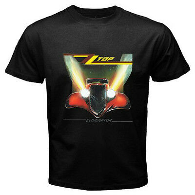 "New ZZ TOP ""Eliminator"" Classic Retro Rock Band Men's Black T-Shirt Size S-3XL"