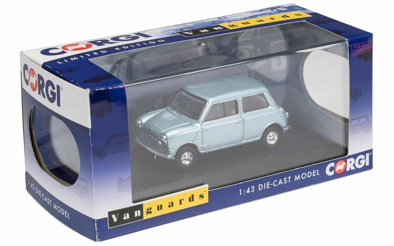 Más asequible Corgi Vanguards Austin Se7en Mini Mini Mini Lord austin's Daughter azul-gris Metallic  soporte minorista mayorista
