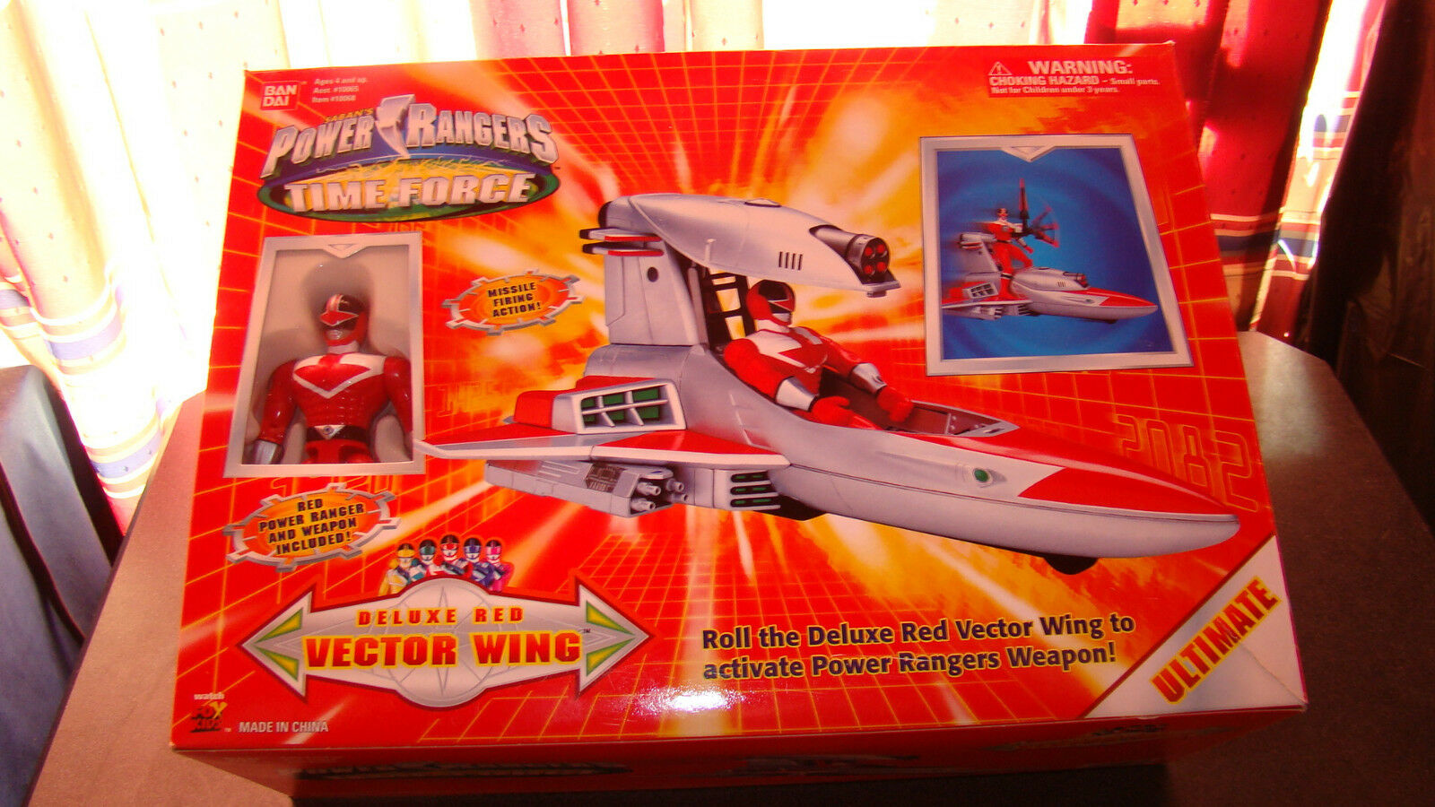 Power Rangers Time Force Deluxe ROT Vector / Wing with Instructions / Vector Box RARE e83924