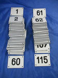Schild Nummern Zahlen Briefkasten Hausnummer Register Bakelit Stelakat