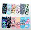 US stock Cute 3D Print Socks Women Ankle Socks emoji Aliens Animal Unicorn cats