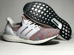 Adidas-Ultra-Boost-4-0-White-Rainbow-Men-039-s-Running-Shoes-CM8111-ALL-Size-NWB