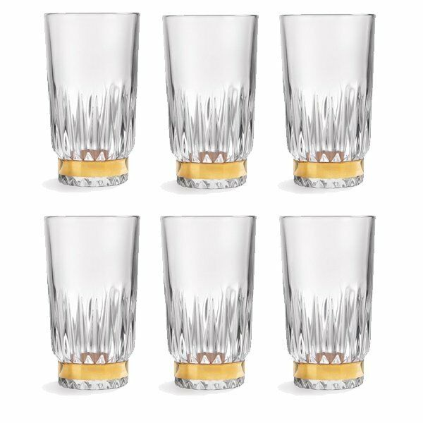 Libbey longdrink verres Winchester or Ring (6 Pièces)