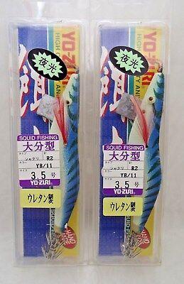 2pcs Yo-zuri Eging Squid Calamari Fishing Jig #3.5 A15-9 YB//9 Hook R2