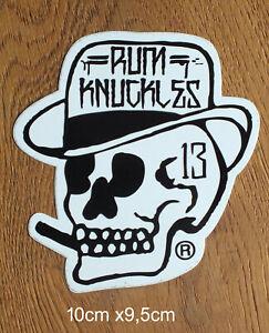 Rum-Knuckles-Oldschool-Skateboard-Sticker-Skate-Longboard-BMX-Aufkleber-S197
