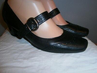 Zapatos de Cuero Janet D. Negro De Mujer 5