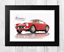 Ferrari 250 GT Berlinetta SWB reproduction car poster with choice of frame