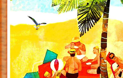 Florida Eastern Air Lines New Retro Mid Century Style Poster Beach Art Print 278