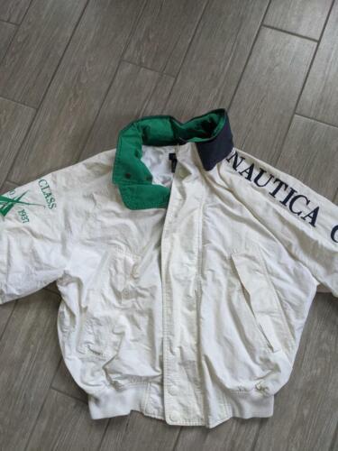 1990s vintage NAUTICA jacket SPELLOUT challenge j-