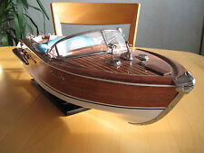 Maquette Riva Aquarama Naturel 65 cm - Modelisme Motorisable Wooden Model Boat